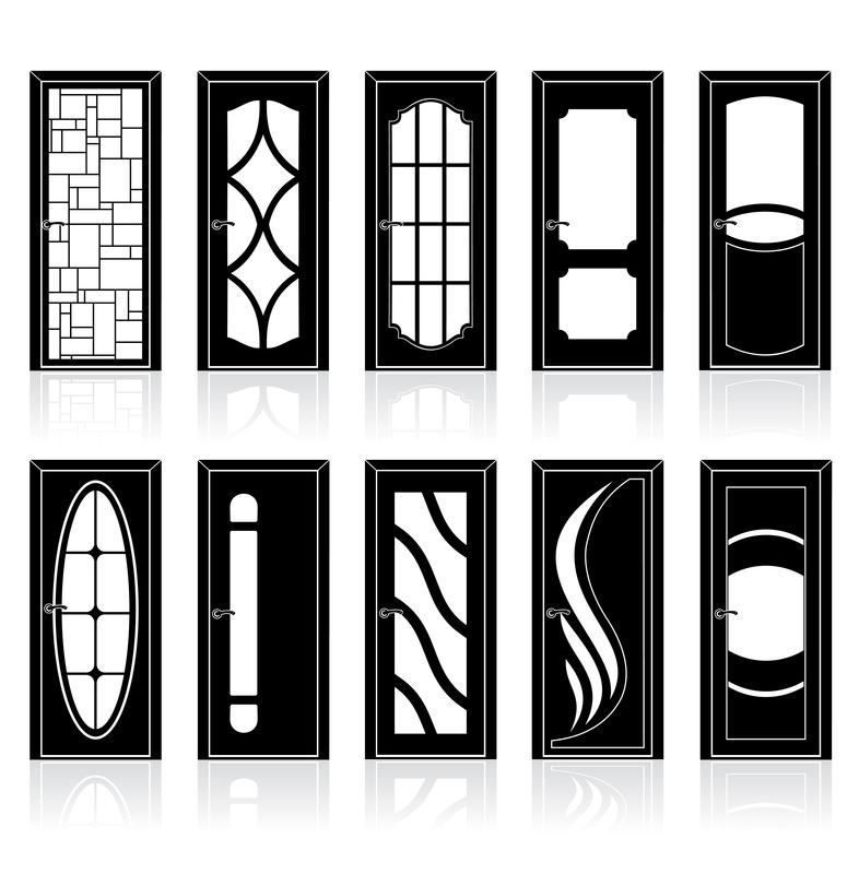 Двери межкомнатные черные